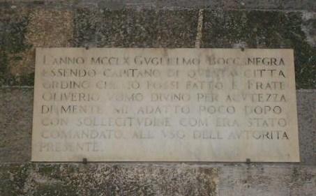 Lapide per Guglielmo Boccanegra