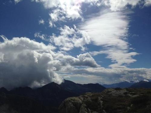 giochi di nuvole verso il col della vecchia