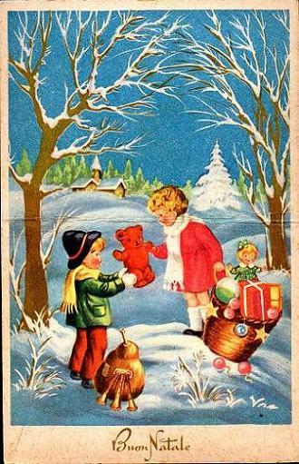 Letterine di natale e cartoline di auguri del passato for Immagini cartoline di natale